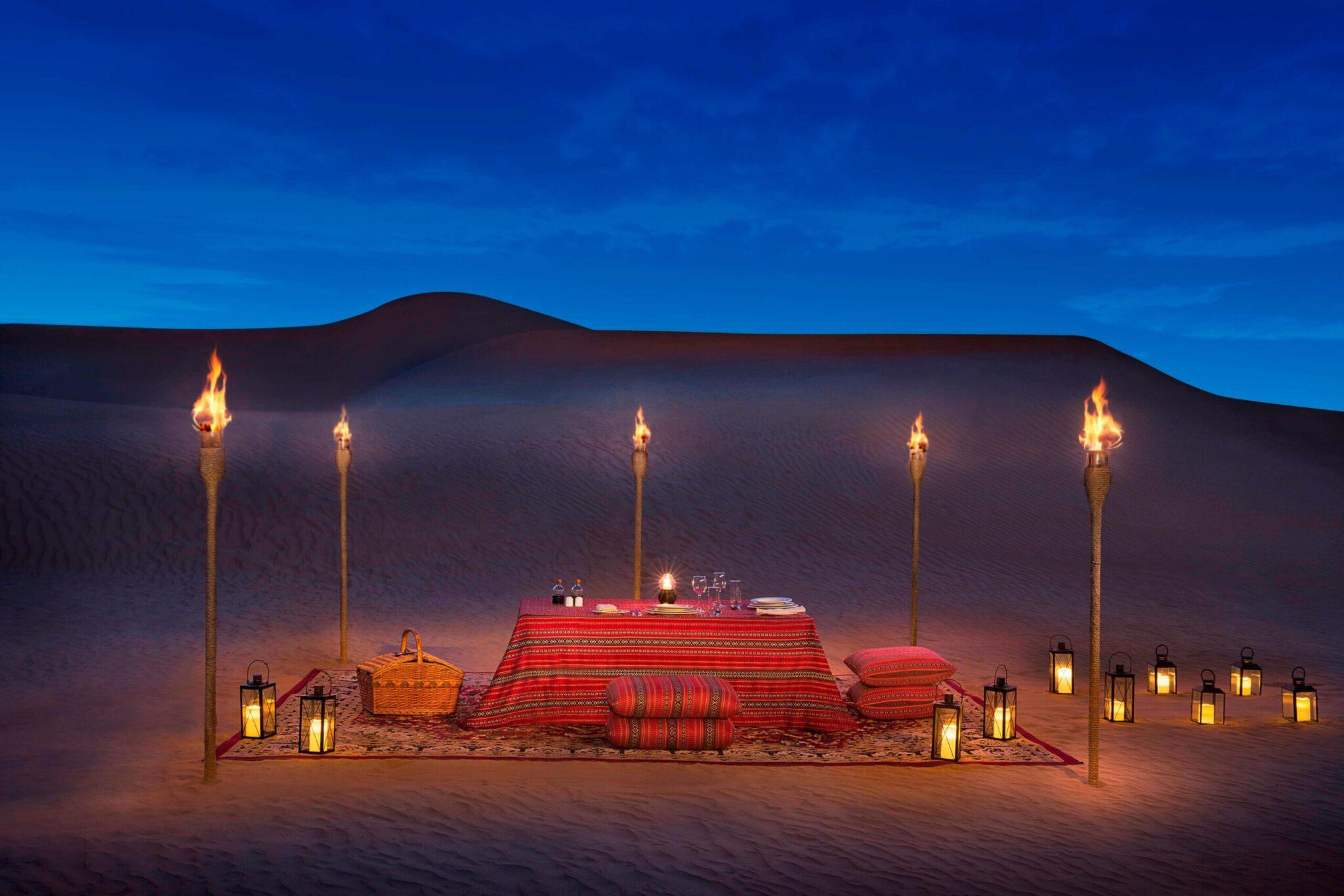 ארוחת פרטית במדבר דובאי